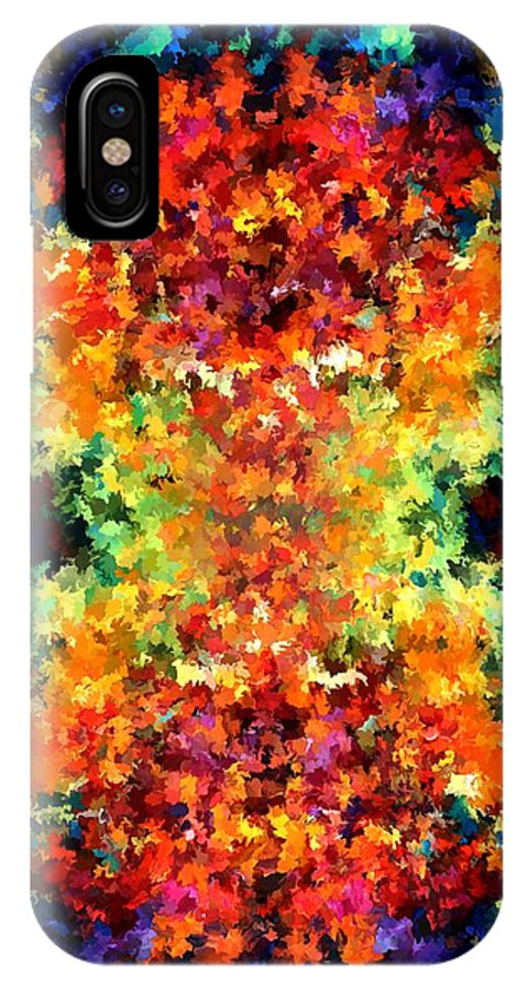 Contemporary IPhone X Case featuring the painting Modern Composition 12 by Rafi Talby