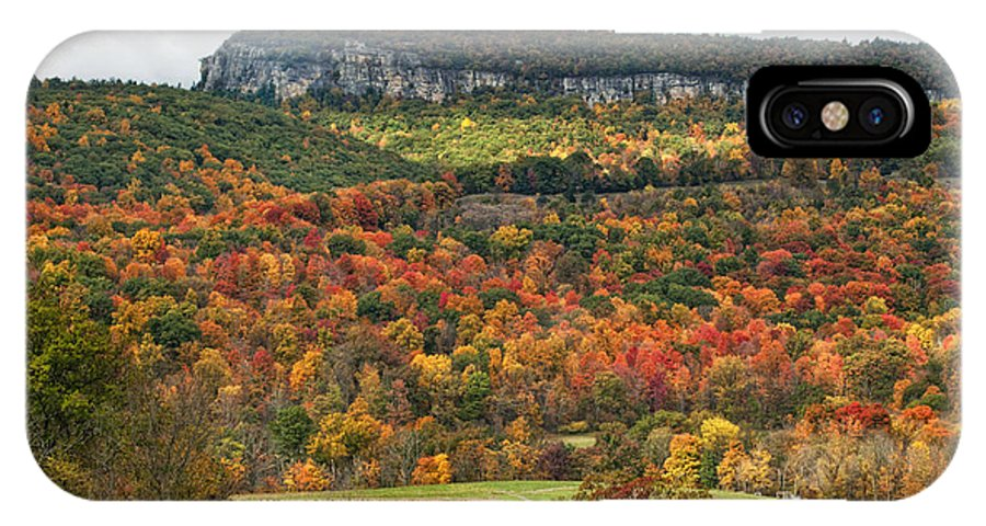 Fall IPhone X Case featuring the photograph Mohonk Tower by Claudia Kuhn