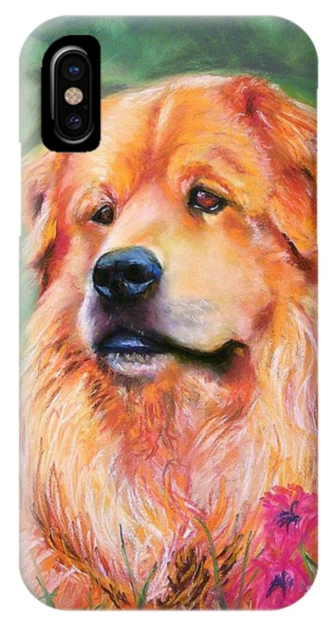 Chow IPhone X Case featuring the painting Molly by Frances Marino