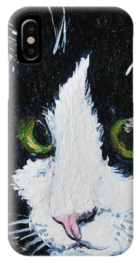 Cat IPhone Case featuring the painting Molly by Reina Resto