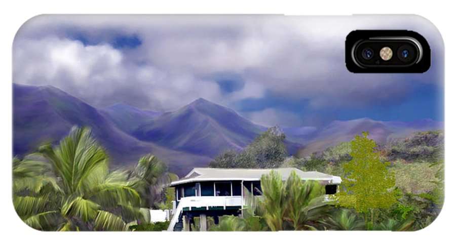 Hawaii IPhone X Case featuring the photograph Moloa A Bay Hideaway by Kurt Van Wagner