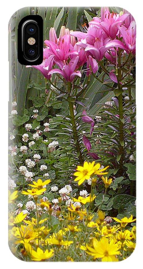 Mother IPhone X Case featuring the photograph Moms Garden by Ann Willmore