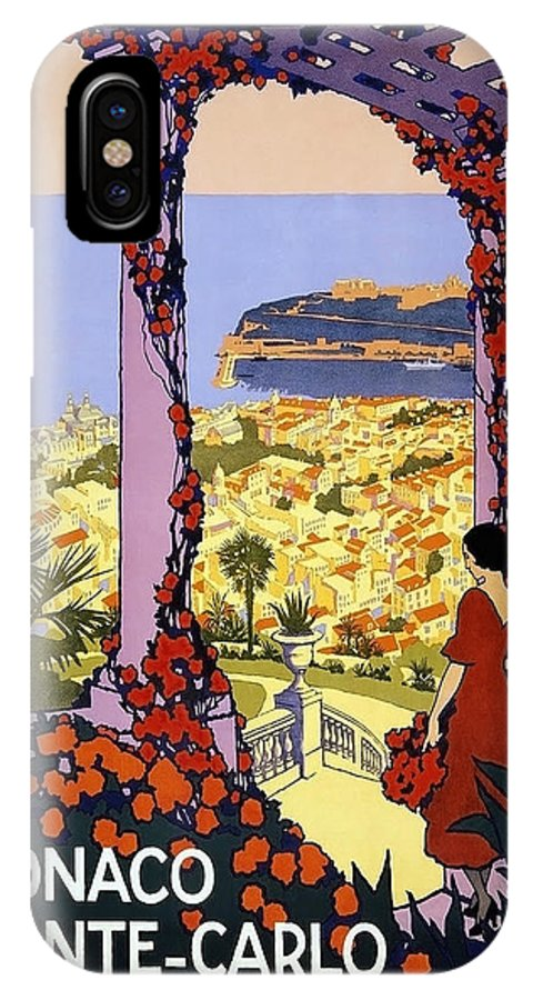 Monaco IPhone X Case featuring the painting Monaco, Monte Carlo, View From Hotel Terrace by Long Shot