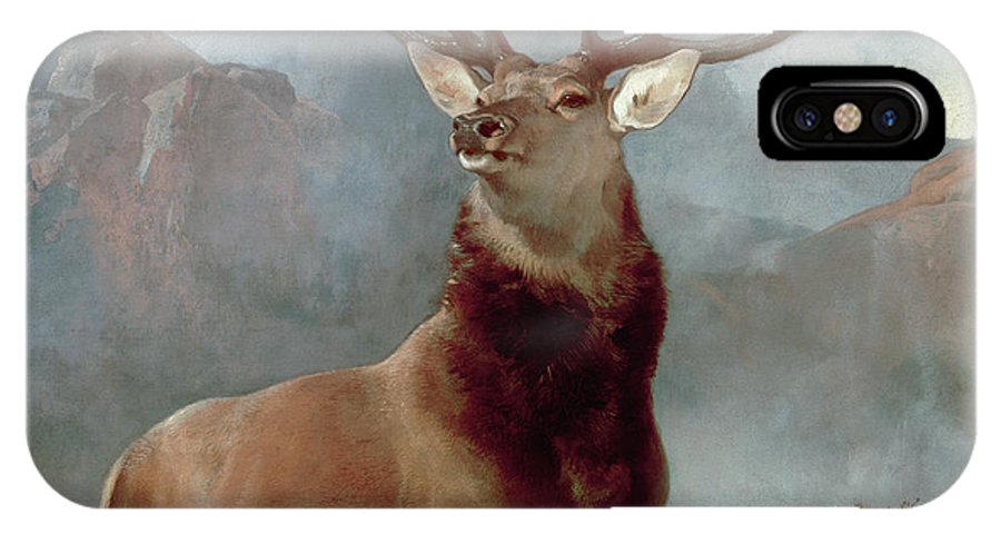 Monarch IPhone X Case featuring the painting Monarch Of The Glen by Sir Edwin Landseer