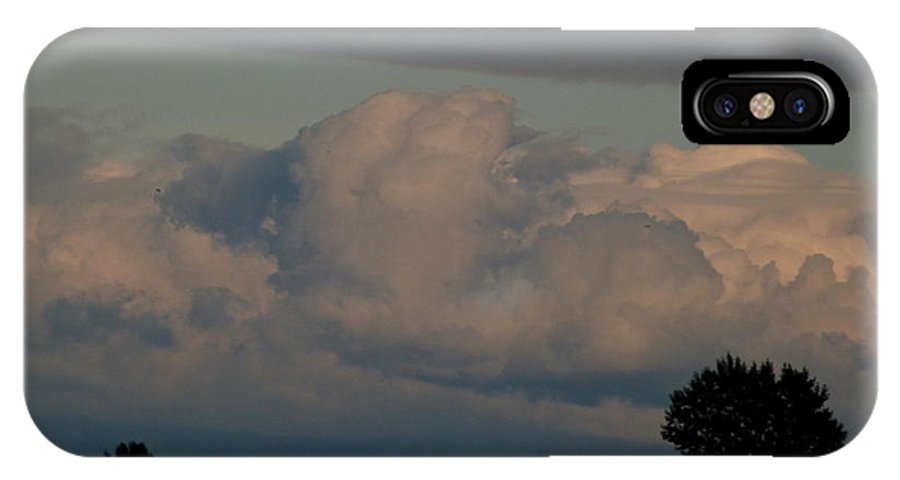 Clouds IPhone X Case featuring the photograph Monday September 7 2015 Labour Day by Darrell MacIver