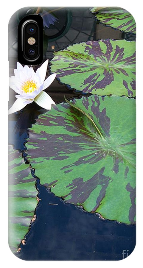 Photograph IPhone X Case featuring the photograph Monet Lilies White by Eric Schiabor