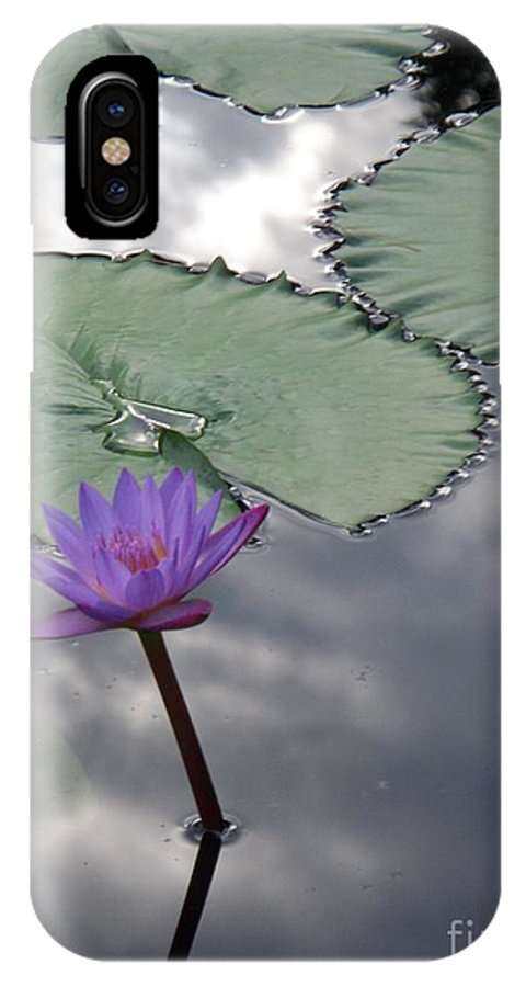 Photograph IPhone X Case featuring the photograph Monet Lily Pond Reflection by Eric Schiabor