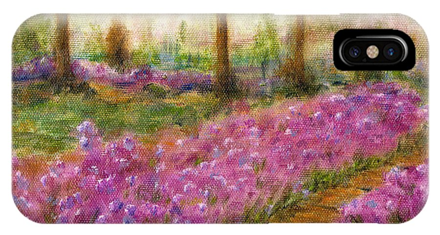 Monet IPhone X Case featuring the painting Monet's Garden In Cannes by Jerome Stumphauzer