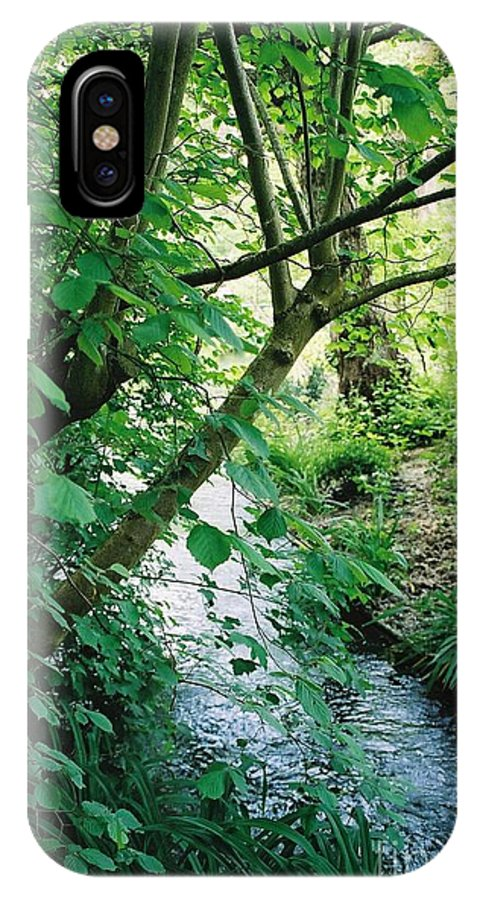 Photography IPhone X Case featuring the photograph Monet's Garden Stream by Nadine Rippelmeyer