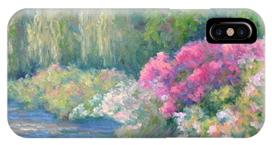 Pond IPhone Case featuring the painting Monet's Pond by Bunny Oliver