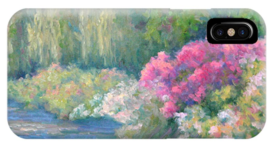 Pond IPhone X Case featuring the painting Monet's Pond by Bunny Oliver