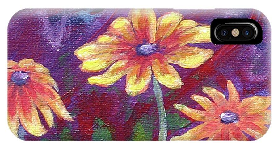 Small Acrylic Painting IPhone X Case featuring the painting Monet's Small Composition by Jennifer McDuffie