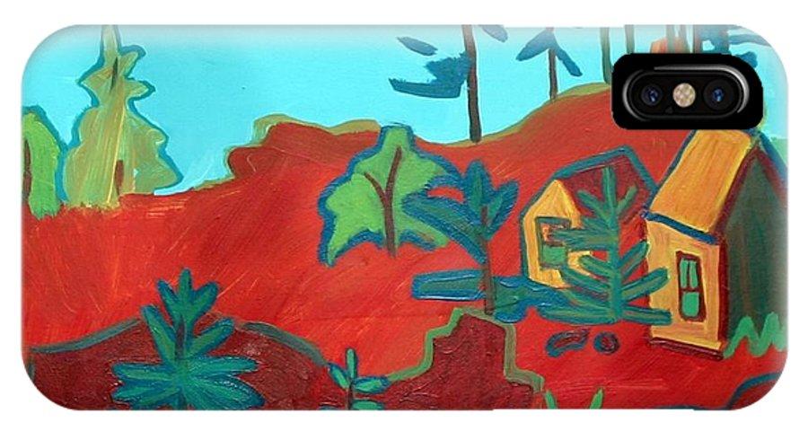 Beach IPhone X Case featuring the painting Monhegan Hue by Debra Bretton Robinson
