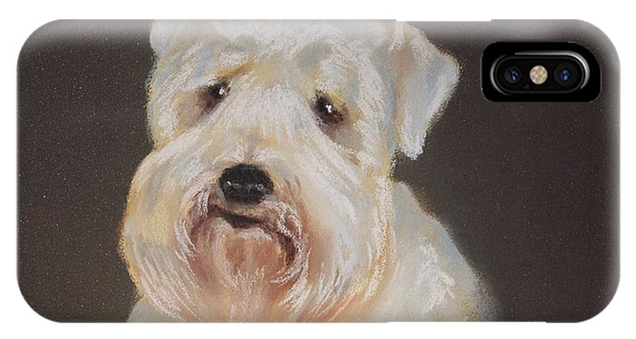 Pet IPhone X Case featuring the painting Monique's Bailey by Carol Mueller