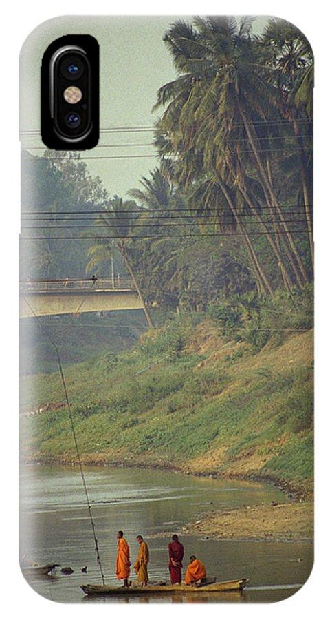 Monks IPhone Case featuring the photograph Monks - Battambang by Patrick Klauss