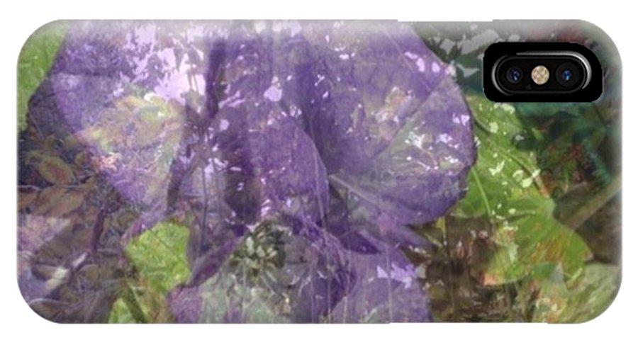 Flower IPhone X Case featuring the photograph Monkshood by Rita Koivunen