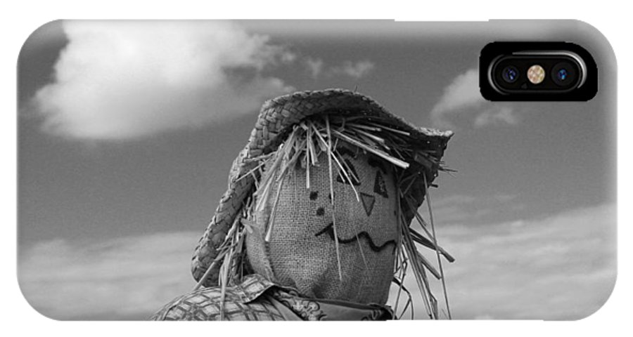 Photo For Sale IPhone X Case featuring the photograph Monochrome Scarecrow by Robert Wilder Jr