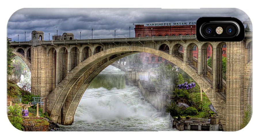 Scenic IPhone X Case featuring the photograph Monroe Street Bridge Spokane by Lee Santa