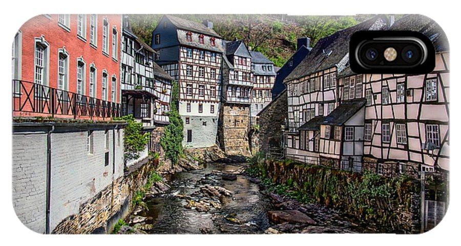 Old IPhone X Case featuring the photograph Monschau Village View by Anthony Dezenzio