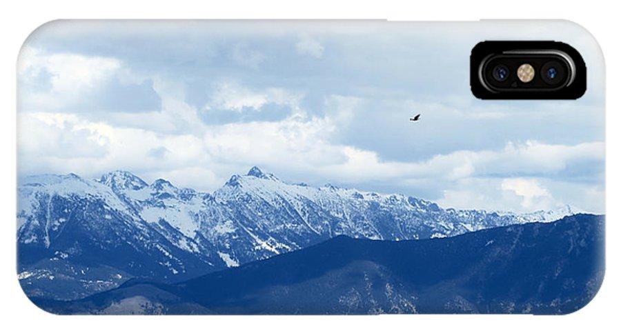 Montana IPhone X Case featuring the photograph Montana Flight by Rachel Morrison
