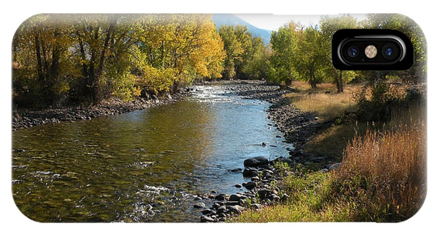 River IPhone X Case featuring the photograph Montana River by Lindy Pollard