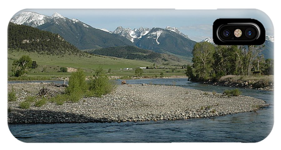 Stream IPhone X Case featuring the photograph Montana Stream by Kathy Schumann