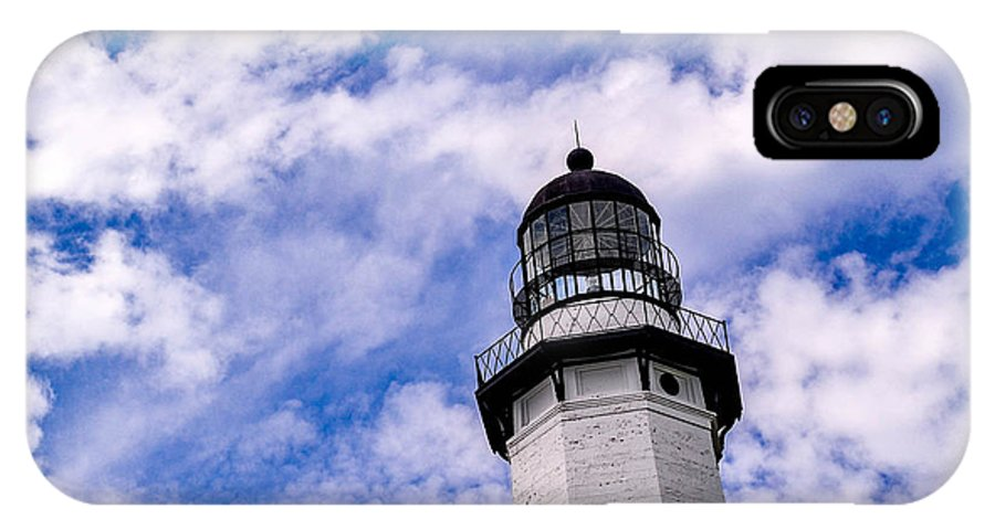 Montauk IPhone X Case featuring the photograph Montauk Lighthouse by Chris Tobin