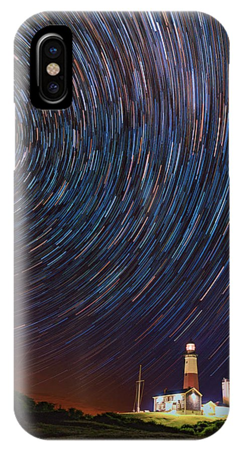 Montauk IPhone X Case featuring the photograph Montauk Star Trails by Rick Berk
