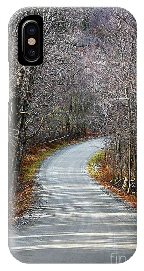 Road IPhone X Case featuring the photograph Montgomery Mountain Road by Deborah Benoit
