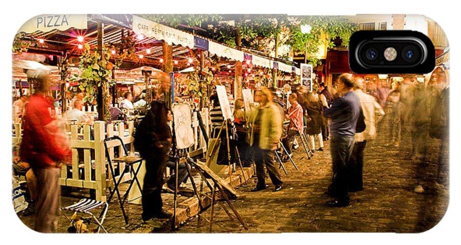 Montmartre IPhone X Case featuring the photograph Montmartre Artist Square Paris by Pierre Leclerc Photography