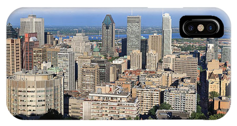 Montreal IPhone X Case featuring the photograph Montreal City Panorama From Mount Royal Quebec Canada by Pierre Leclerc Photography