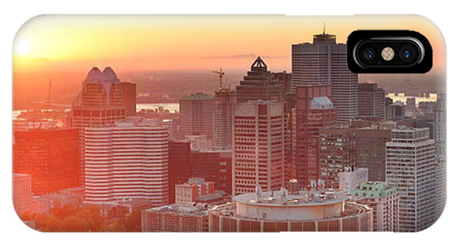 Montreal IPhone X Case featuring the photograph Montreal Sunrise Panorama by Songquan Deng