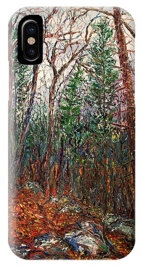 Landscape IPhone Case featuring the painting Montville Wood by J E T I I I