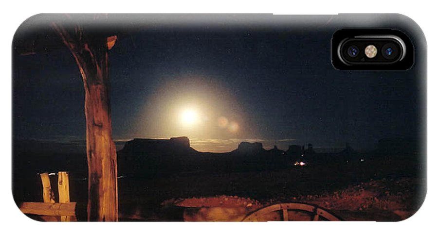 Landscape IPhone Case featuring the photograph Monument Moonrise by Cathy Franklin