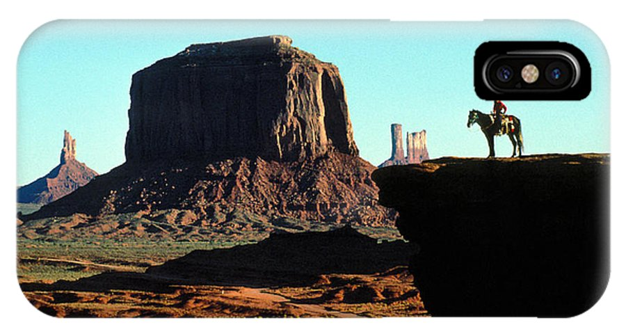 Man IPhone X Case featuring the photograph Monument Valley by Carl Purcell