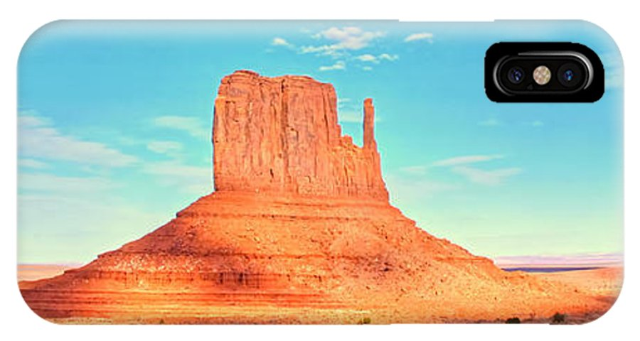 Monument Valley IPhone X Case featuring the mixed media Monument Valley Wide View by Garland Johnson