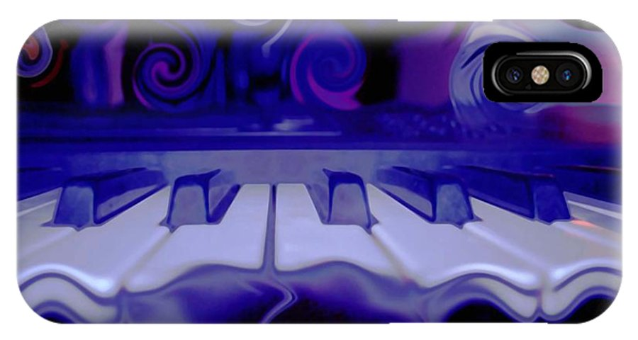 Music IPhone X Case featuring the photograph Moody Blues by Linda Sannuti