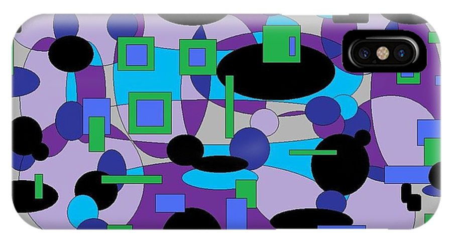 Digital Abstract IPhone X Case featuring the digital art Moody Purple by Jordana Sands
