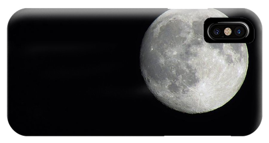 Moon IPhone X Case featuring the photograph Moon Brilliance by Amanda Roberts