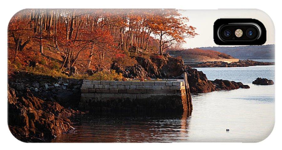 Moon Garden IPhone X Case featuring the photograph Moon Garden Autumn Finery by Faith Harron Boudreau