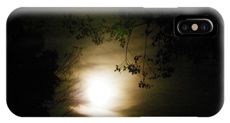 Nature IPhone X Case featuring the photograph Moon Glow by Peggy King