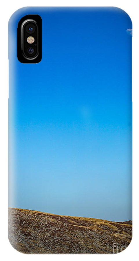 IPhone X Case featuring the photograph Moon Over The Mountains by Marc Daly