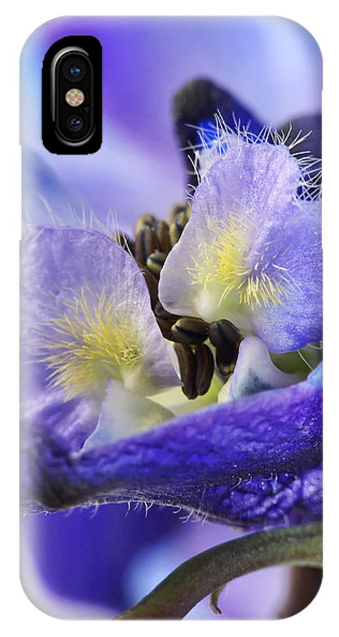 Macro IPhone X Case featuring the photograph Moon Rise by Lauren Radke