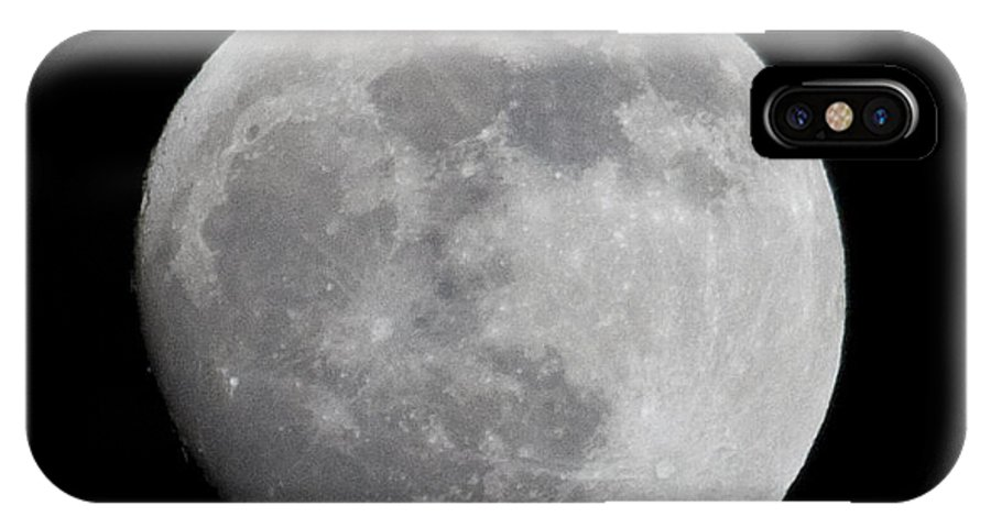 IPhone X Case featuring the photograph Moon1 by Brian Jordan