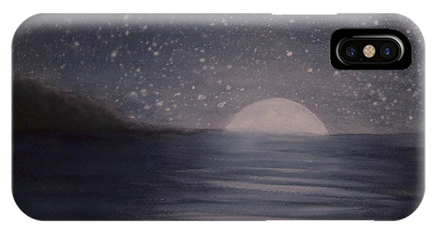 Ocean IPhone Case featuring the painting Moonlight by Emily Young