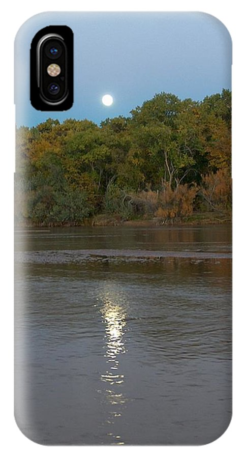 Moonlight IPhone Case featuring the photograph Moonlight On The Rio Grande by Tim McCarthy