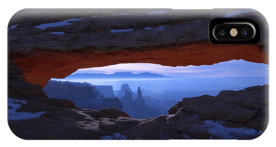 Moonlit Mesa IPhone X Case featuring the photograph Moonlit Mesa by Chad Dutson