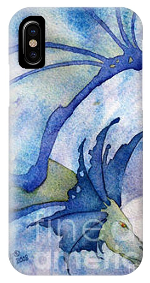 Dragon IPhone Case featuring the painting Moonstone Dragon - Sold by Wendy Froshay