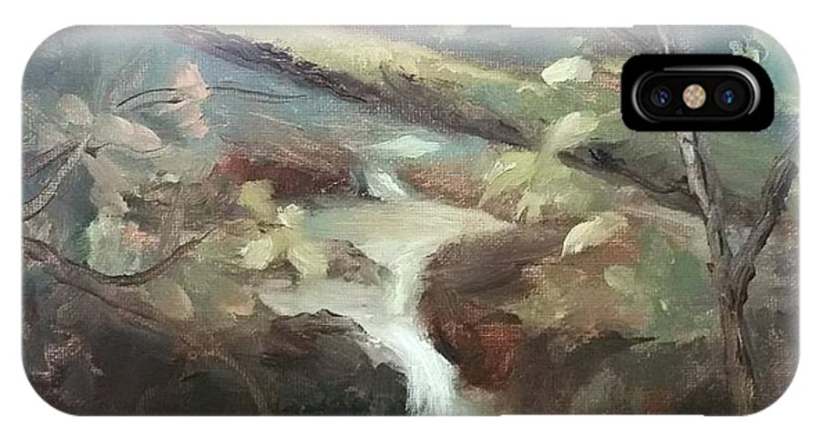 Plein Air Landscape IPhone X Case featuring the painting Moore Ck, Asheville, Nc by Gina Boyd Mullins