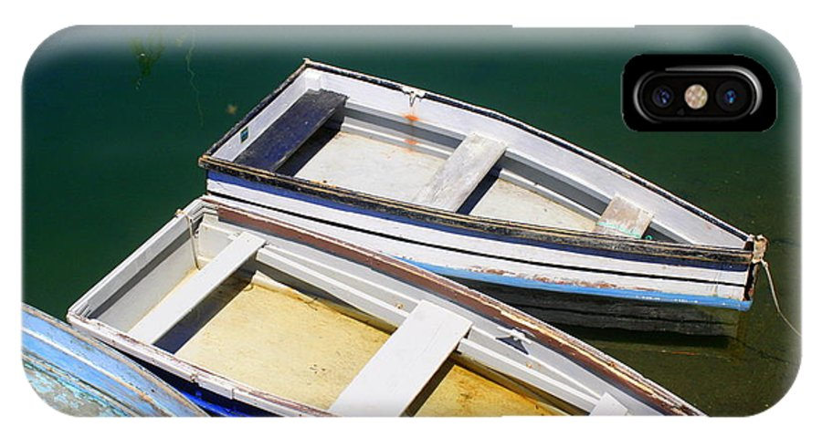 Rockport IPhone X / XS Case featuring the photograph Moored Row Boats by John Kenealy